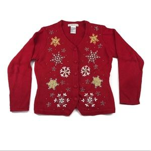 Victoria Jones Ugly Christmas Cardigan Sweater